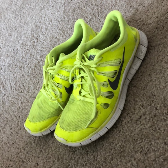 Bright Yellow Nike Free Run